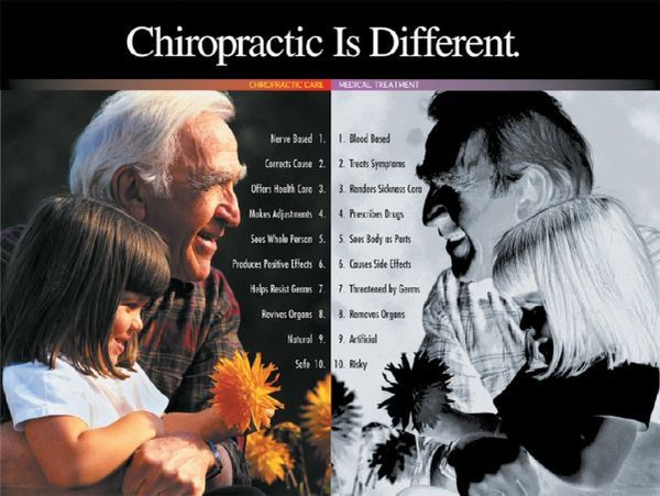 "Chiropractic is Different Poster (18"" x 24"")"