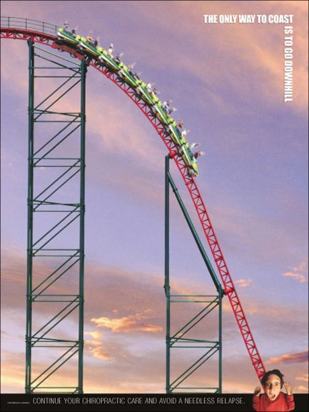 "Roller Coaster Poster (18"" x 24"")"