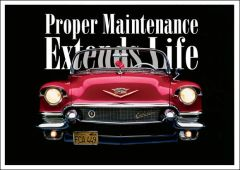 Proper Maintenance Postcard (1 x FREE* SAMPLE)