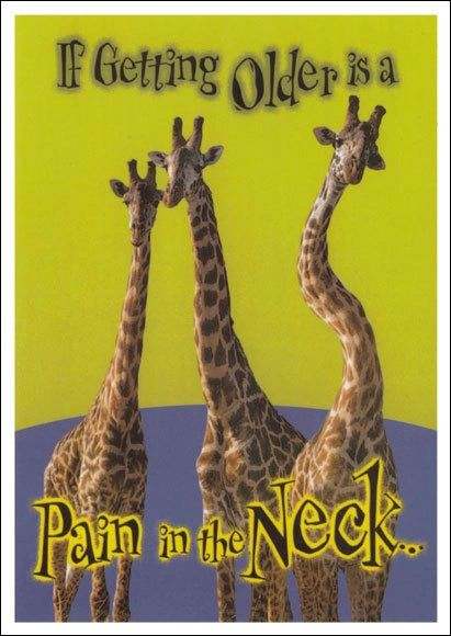 Pain In The Neck Birthday Postcard (1 x FREE* SAMPLE)