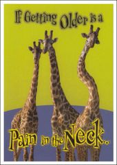 Pain In The Neck Birthday Postcard (MULTIBUY) (400 Postcards)