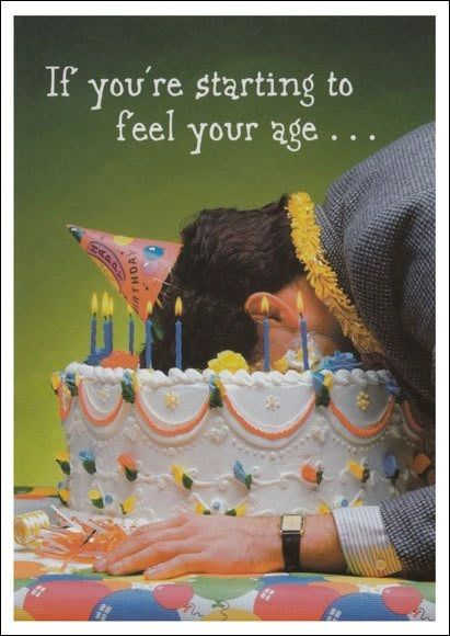 Feeling Your Age Birthday Postcards (*BLANK REVERSE*) (100 Postcards)