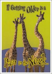 Pain In The Neck Birthday Postcard (100 Postcards) (BLANK REVERSE)