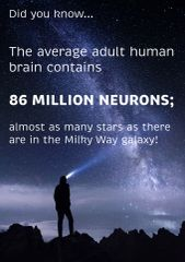 "86 Million Neurons Poster (18"" x 24"")"