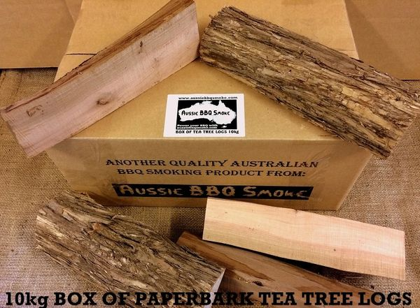 Paperbark Tea Tree Logs 10kg Box Aus Manufacturer Bbq