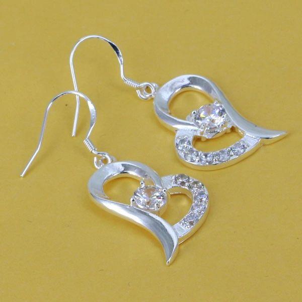 DL925246 .925 Sterling Silver Diamond Earrings