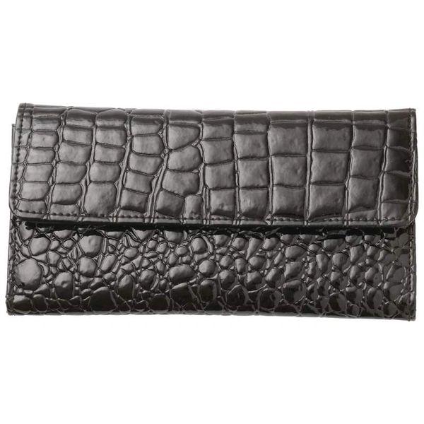 Ladies Leather Gator-Look Wallet