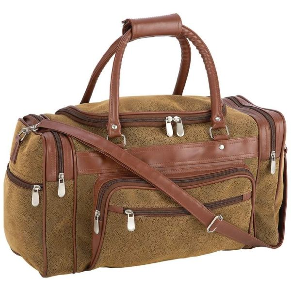 """17"""" Traveling Tote in Faux Leather"""