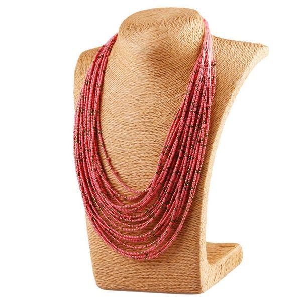 620167 Boho Beaded Strains Necklace