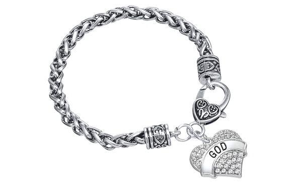 God Heart Pendant Bracelet