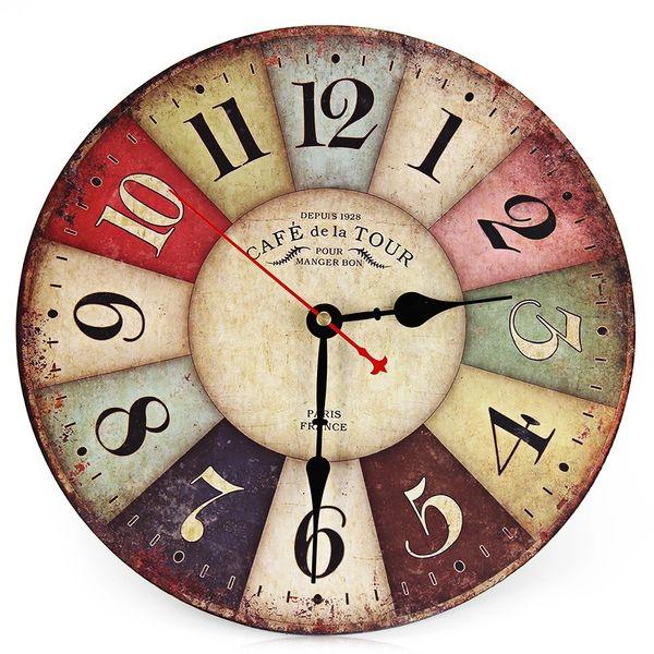 Retro Vintage Colorful Wall Clock