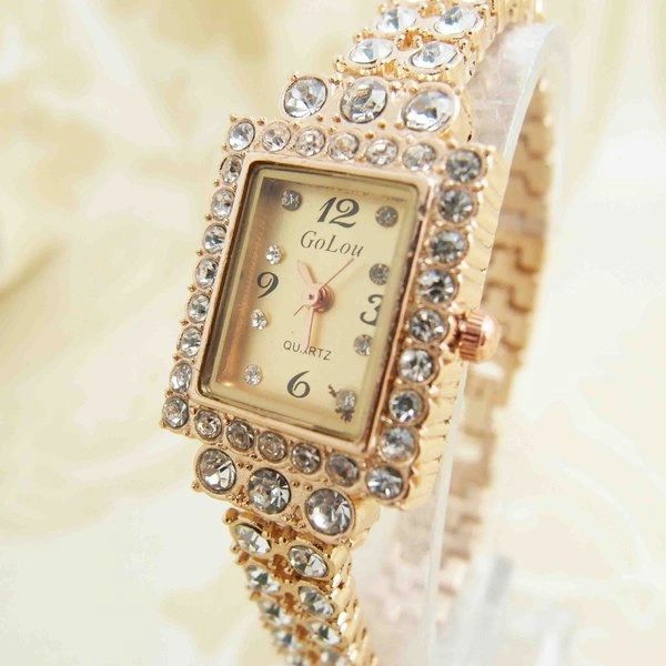 DL532499 Lux Quartz Diamond Accents Ladies Watch