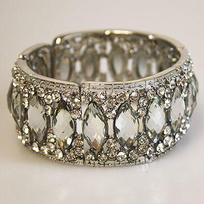 DL134307 Elegant Crystal Embellished Rhinestone Bracelet