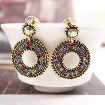 DL532344 Drop Deco Design Pierced Earrings