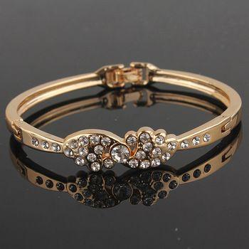 DL532112 18 kt Gold Filled Diamond Bracelet