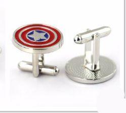 181245 Men Cufflinks Captain America Design