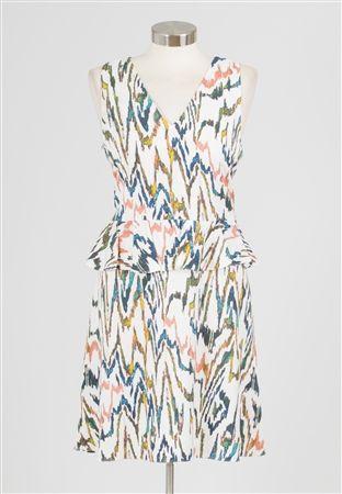 Chevron Peplum Dress