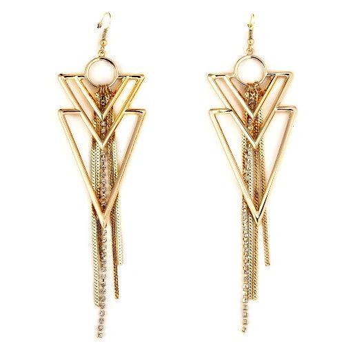 DL5837441 Arrow Tassel Earrings