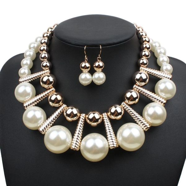 532895 Goddess Pearl Beaded Necklace Set