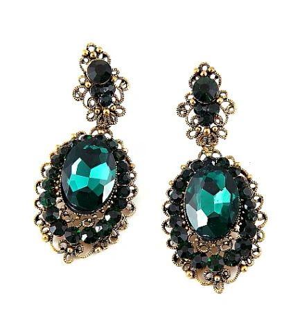 Jade Antique Style Earrings