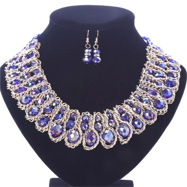 532713 Grace - Trio Twined Crystal Bead Necklace Set