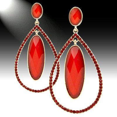Loop rhinestone earrings