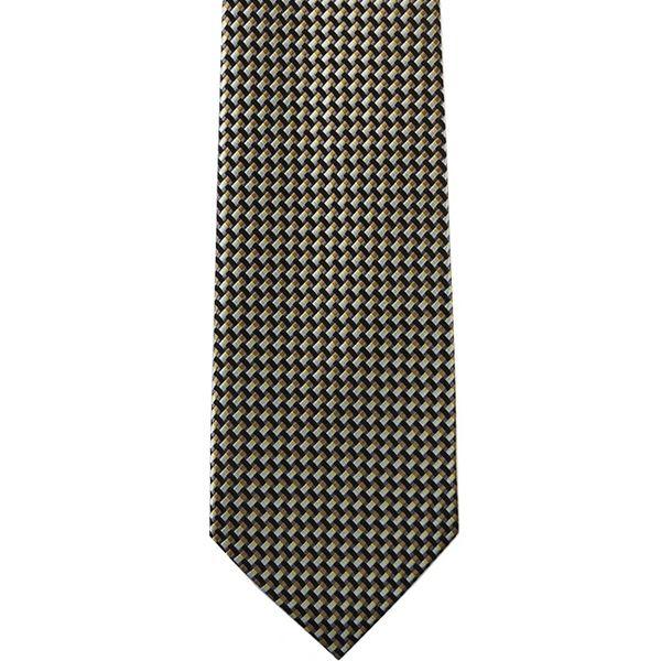 Black Weave Woven Neck Ties. DLM3355