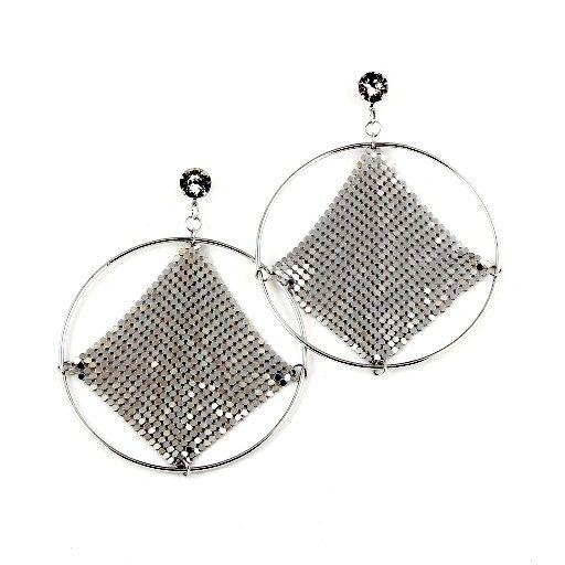DL35124465 Big Loop Retro Style earrings