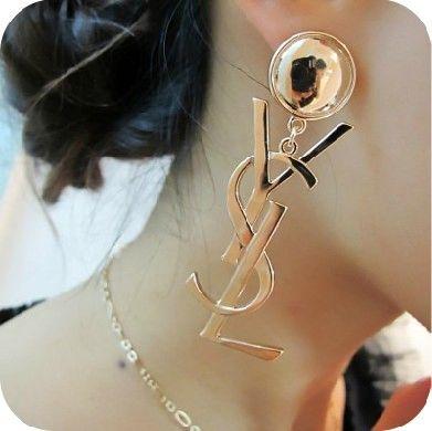 Letters Designer Earrings