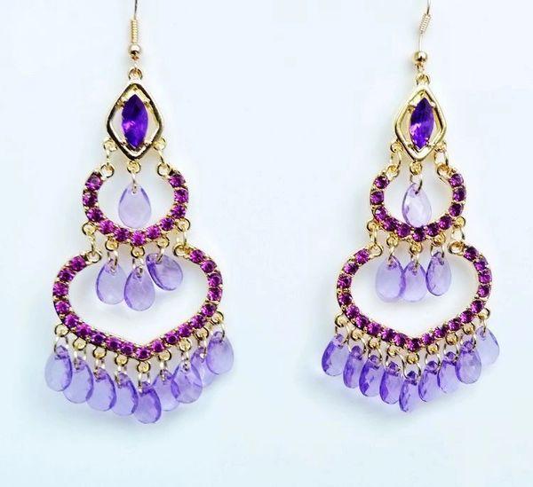 India Style Crystal Earrings