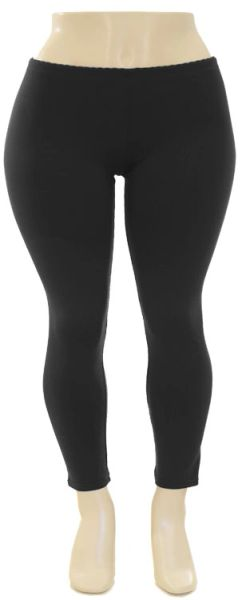 DLSP0929 Black Cotton Leggings Plus Size