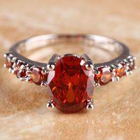 DL10334341 Garnet Gem Sterling Silver Ring