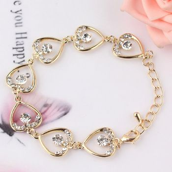 Hearts & Diamonds Charm Bracelet