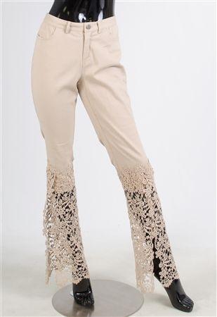 19820 Tesoro Lace Slim Pant