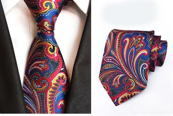 017 Red Blue Multi Neck Tie