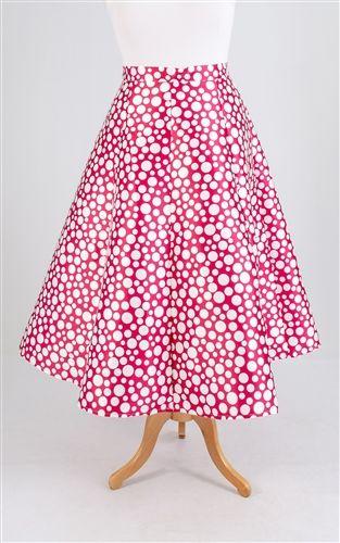 0111 Bubble Pattern A-Line Skirt