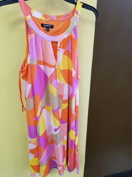 3457 Glamour Design Sheer Multi Maxi Dress