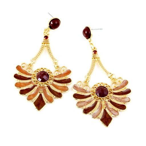 DL1115201 Brown Scallop Earrings