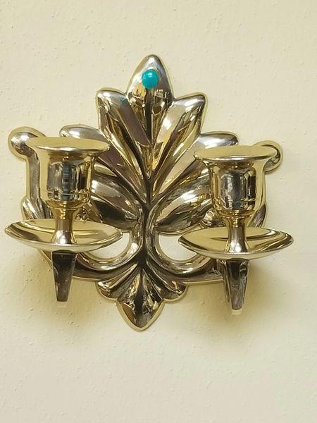 Brass Leaf Sconce