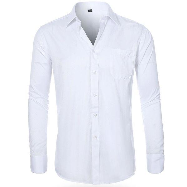 Men's Slim Fit White Dress Shirt