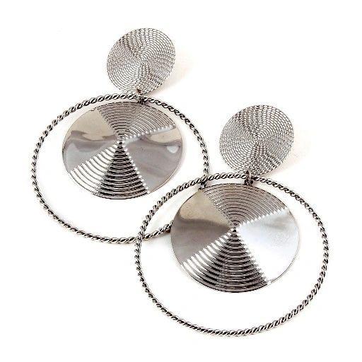 Oversized Orbit Ring Earrings