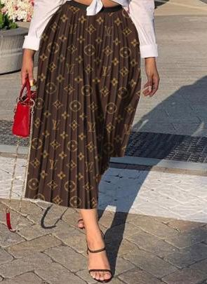 Letter Inspired Pleated Skirt