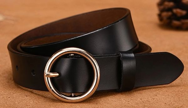 O Ring Buckle Leather Belt