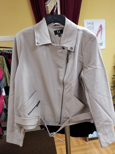 Giuliana Faux Leather Jacket