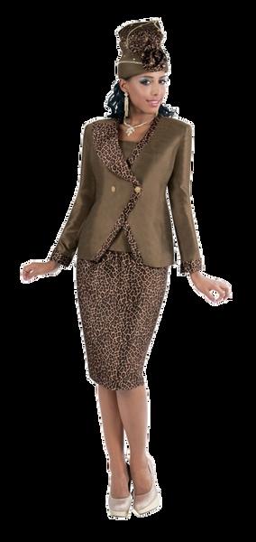 4366 Tally Taylor Leopard Suit 2 Pc Suit