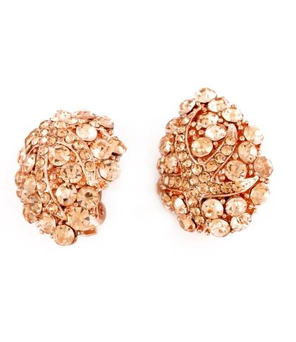 Peach Starfish Cluster Clip-on Earrings