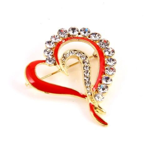 13123300 Red Heart Brooch
