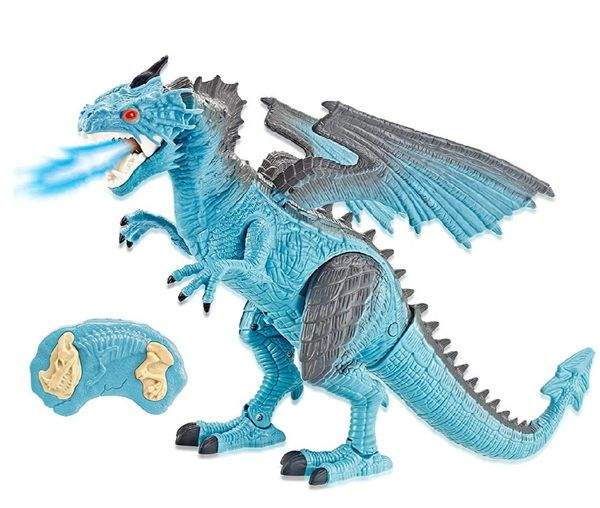 Remote Control Walking Ice Dragon with Breathing Smoke
