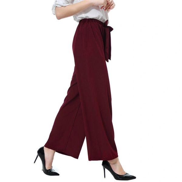 Dress Pant Office Wear Wide Leg