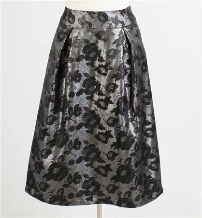 A Line Floral Design Skirt